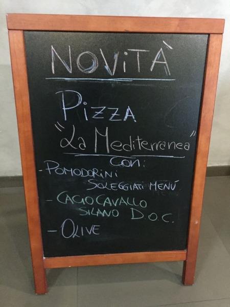 Novità Pizza La Mediterranea