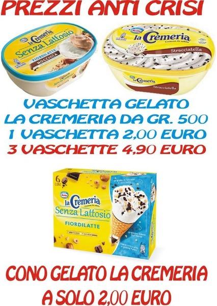 Prezzi anticrisi su vaschette di gelato
