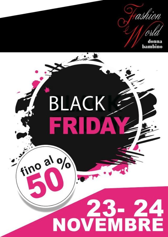 Black Friday! sconti al 50%