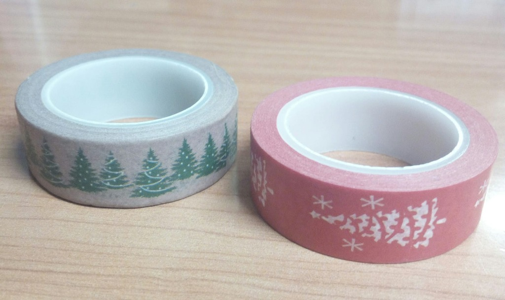 Washi tape fantasie natalizie