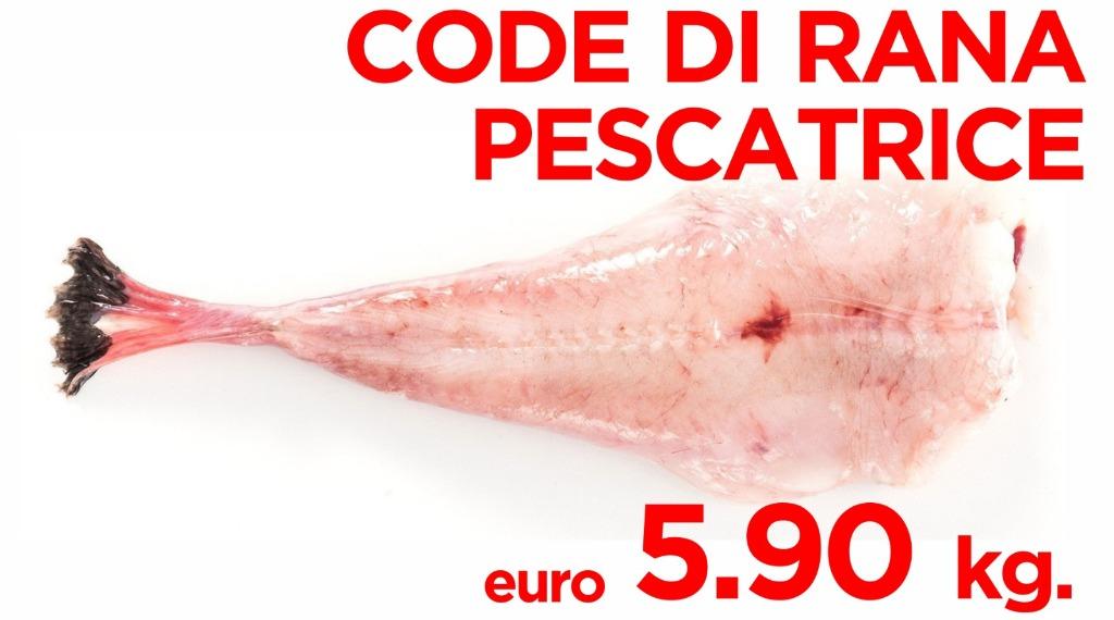 Code di rana pescatrice 5.90€ al kg