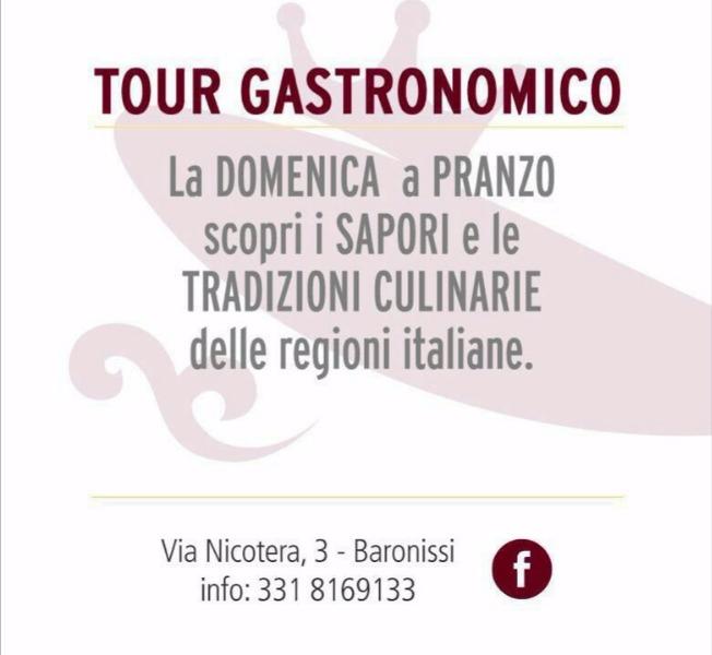 Ogni domenica Tour Gastronomico