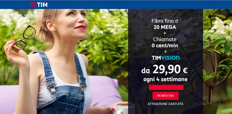 Offerta TIM smart fibra edition 29,90€ per sempre
