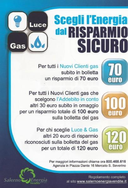 Scegli l'energia dal Risparmio Sicuro con Salerno Energia