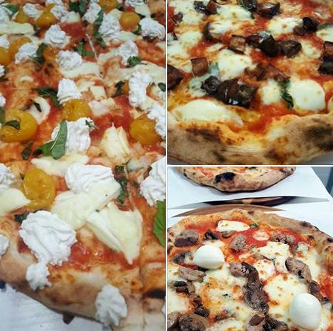 La pizza. Realizzata con lievito madre, il pomodoro Gustarosso, 48 ore di lievitazione e con la nostra mozzarella