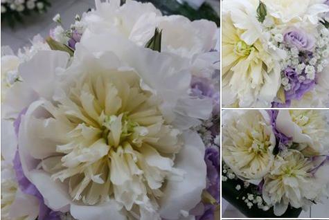 Bouquet Sposa Peonie Pronte e Lisianthus Glicine