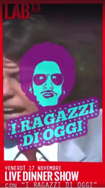 Venerdì 17 Novembre - I Ragazzi di Oggi Live Band beat italiano