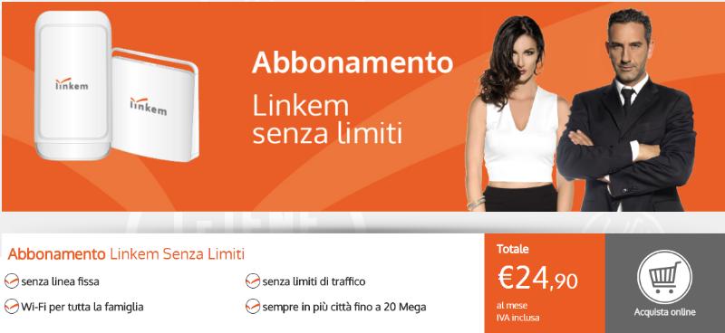 Linkem senza limiti 24.90 € al mese per sempre