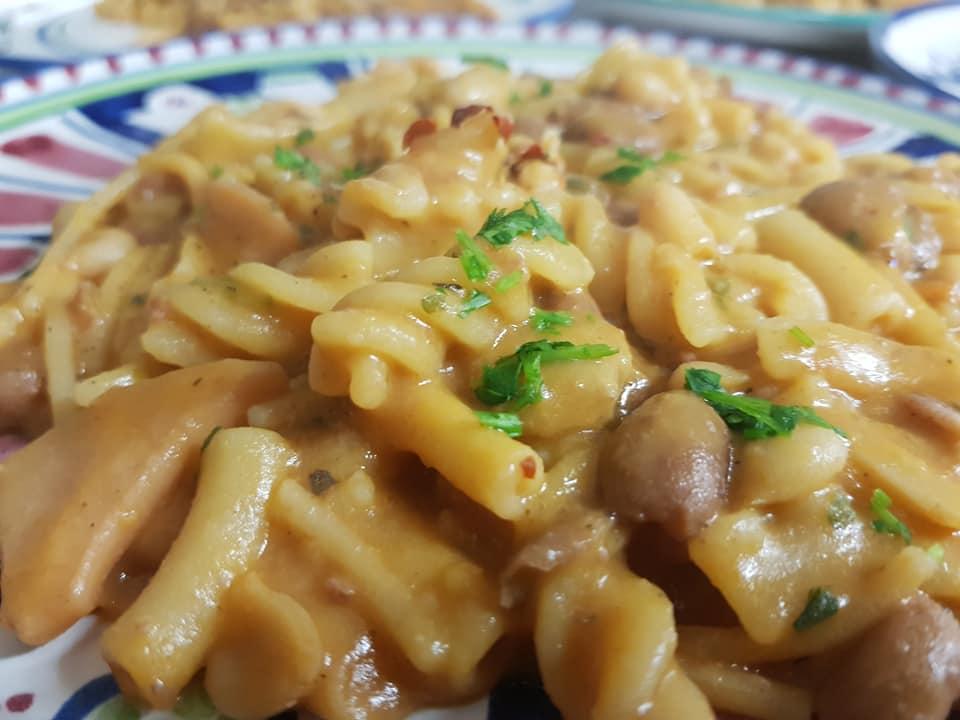 #pasta e #fagioli #calamaretti e #vongole