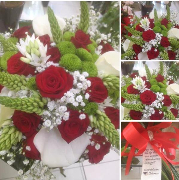 Composizione fiori per laurea