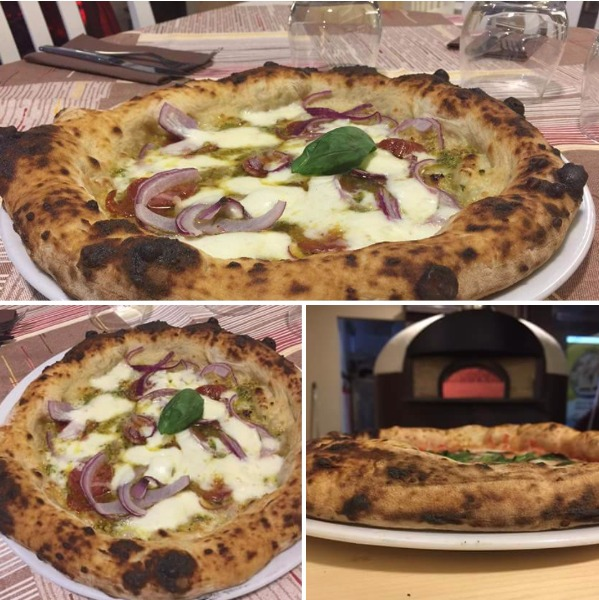 La nostra gustosissima Pizza ALESSANDRA con Crema di Pistacchio Artigianale, Salamino Piccante, Cipolla rossa di Tropea e Provola ???  Una goduria per il palato