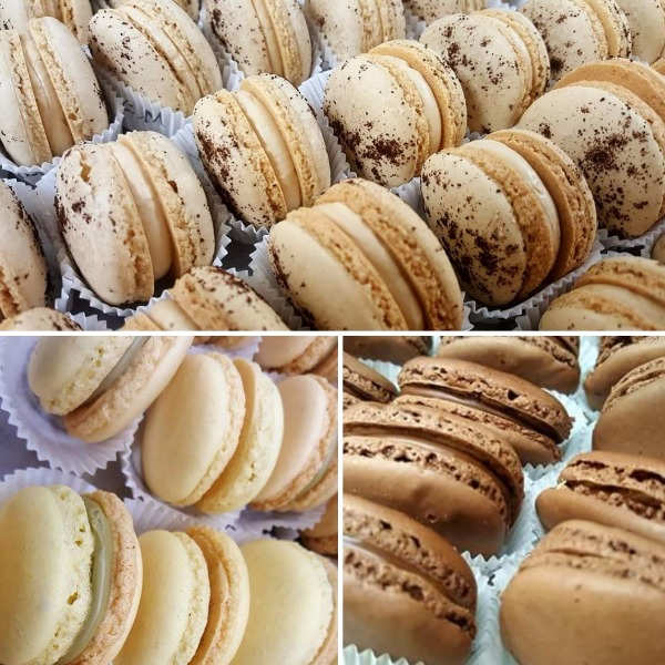 Macarons Caffè, pistacchio e cioccolato