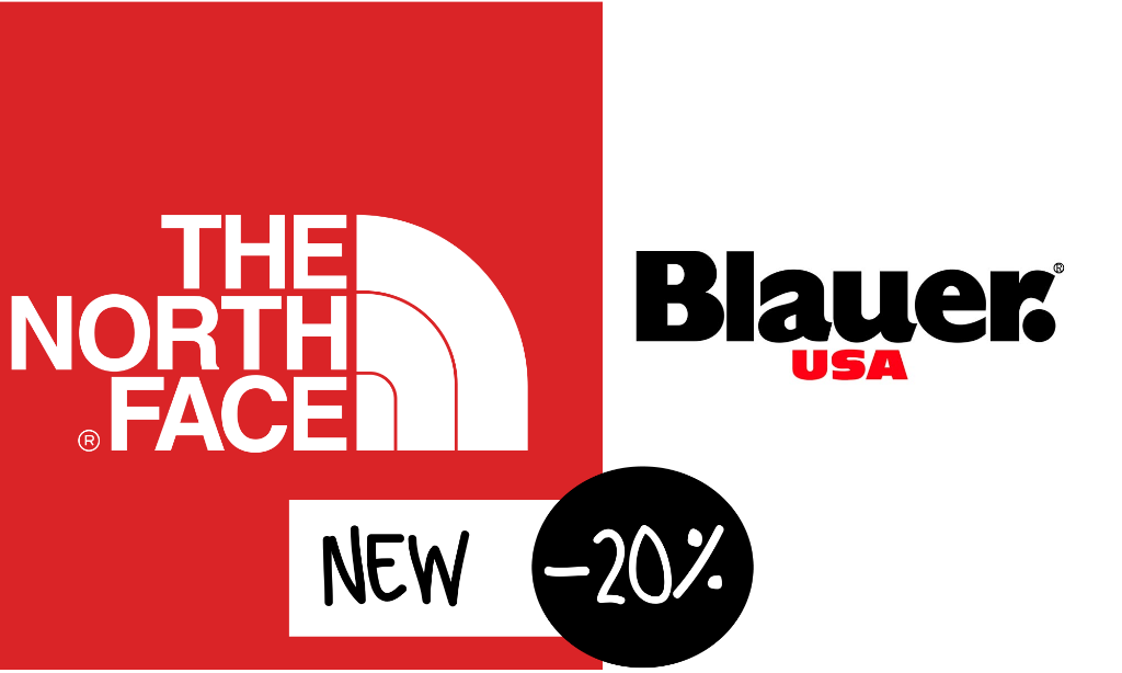 North Face e Blauer NEW -20%