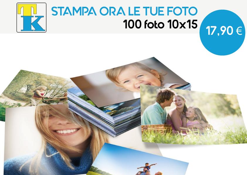 Offerta Stampa Foto: 100 foto 10x15 a soli 17,90€