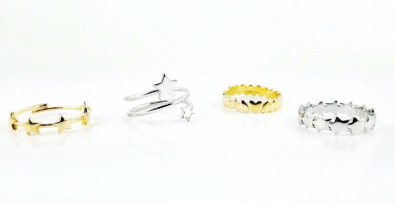 Anelli in argento bianco ed argento dorato disponibili in negozio scontati del 30%