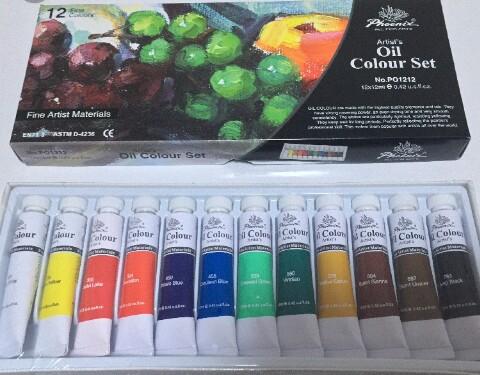 Scatola colori ad olio da 12 - Phoenix Oil Colour Set 12 ml. euro 8,00