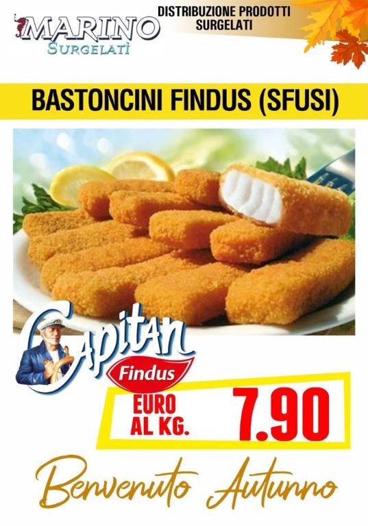 Bastoncini Findus (sfusi) € 7,90 al kg