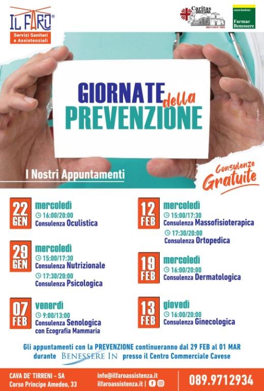 Giornate della Prevenzione - Tutti gli appuntamenti