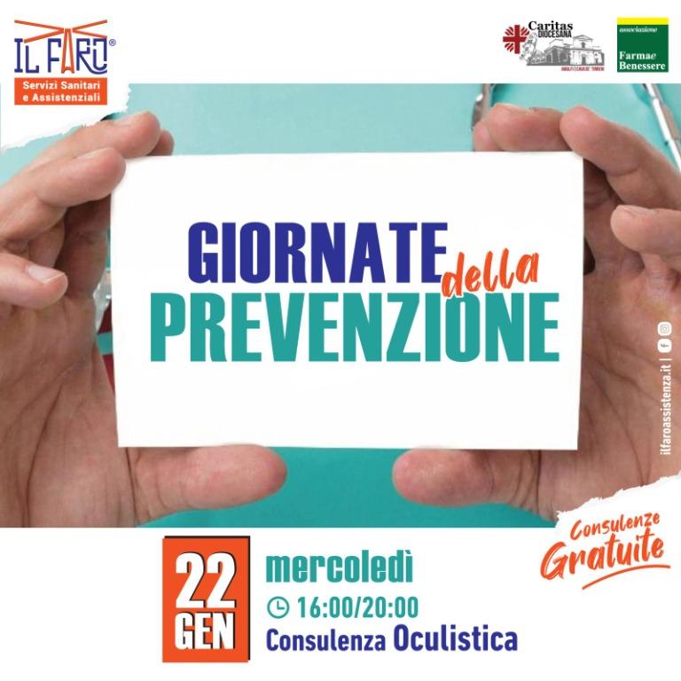 22 Gennaio 2020 - Consulenza Oculistica - Giornate della Prevenzione