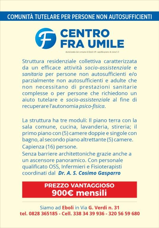 Centro Fra Umile - Comunità tutelare per persone non autosufficienti