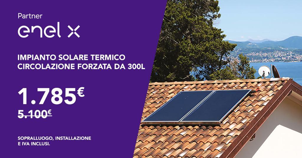 Impianto Solare Termico Cicolazione Forzata da 300L € 1.785