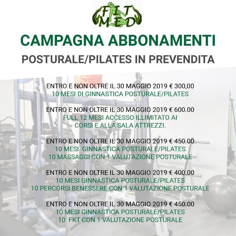 Campagna Abbonamenti - Posturale/Pilates PREVENDITA
