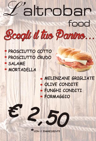 L'AltroBar food. Scegli il tuo panino