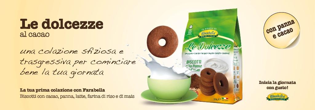 Biscotti senza glutine Farabella LE DOLCEZZE AL CACAO