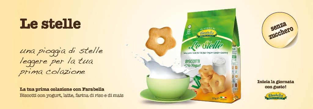 Biscotti senza glutine Farabella LE STELLE