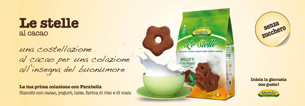 Biscotti senza glutine Farabella LE STELLE AL CACAO
