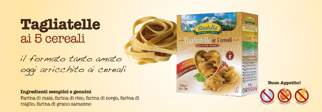 Pasta senza glutine Farabella Tagliatelle ai 5 cereali
