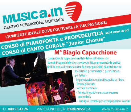 Corso di Pianoforte e propedeutica, Corso di Canto Corale JUNIOR CHORUS