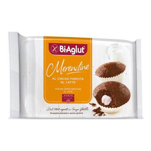 BiAglut senza glutine Merendine al cacao farcite al latte