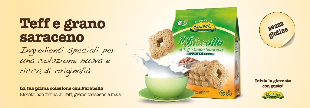 Biscotti senza glutine Farabella TEFF E GRANO SARACENO
