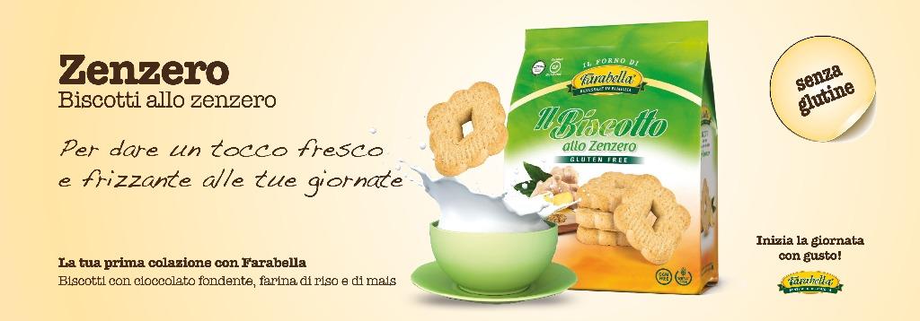 Biscotti senza glutine Farabella ZENZERO