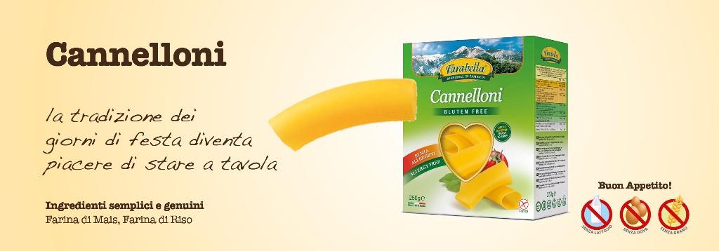 Pasta senza glutine Farabella Cannelloni