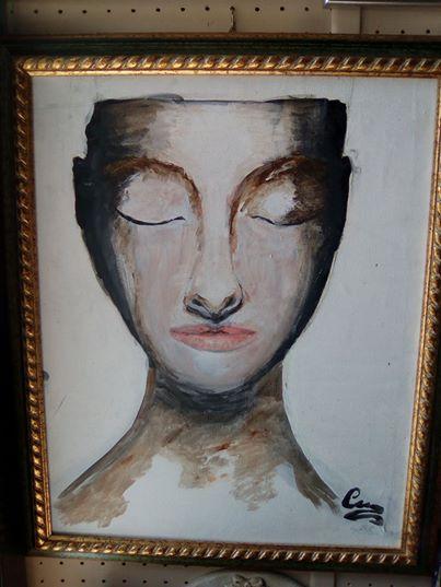 Opera 40x50 acrilico su tela dell'artista Maria Carluccio titolo opera