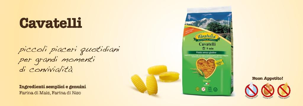 Pasta senza glutine Farabella Cavatelli