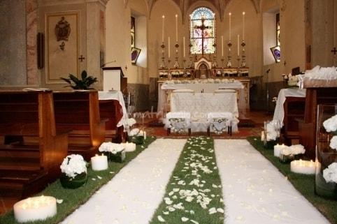 Allestimento chiesa per il tuo matrimonio