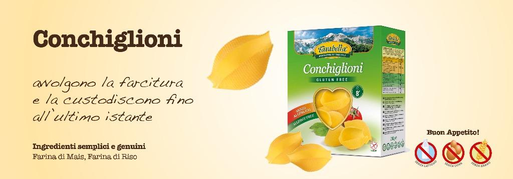 Pasta senza glutine Farabella Conchiglioni
