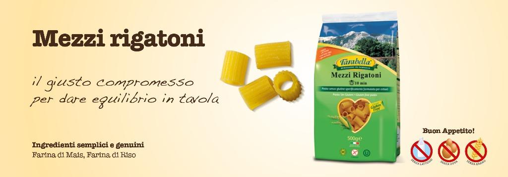 Pasta senza glutine Farabella Mezzi Rigatoni