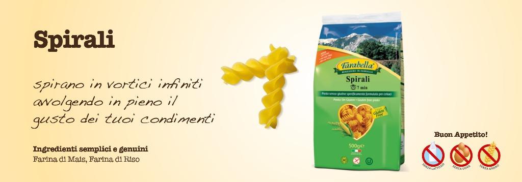 Pasta senza glutine Farabella Spirali