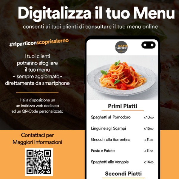 Digitalizza il tuo Menu