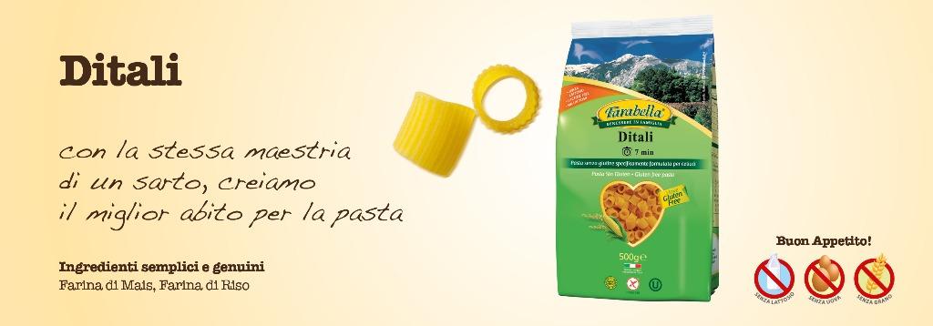 Pasta senza glutine Farabella Ditali