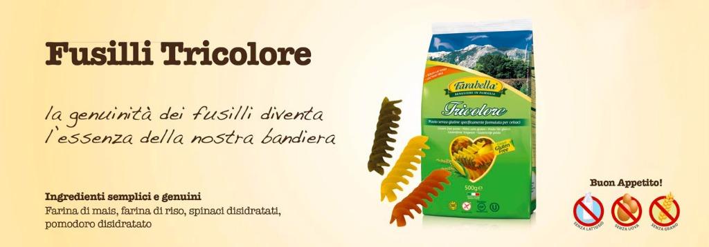 Pasta senza glutine Farabella Fusilli tricolore