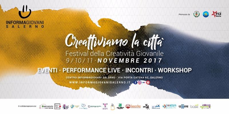 9-10-11 novembre Creattiviamo la Città