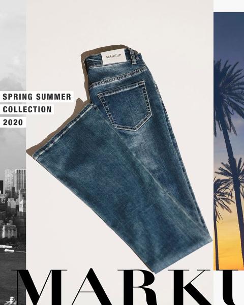 Markup - Jeans flare a cinque tasche