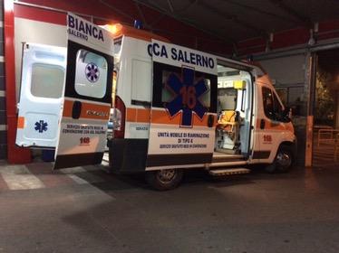 Scontro frontale tra auto a Pontecagnano. Due feriti