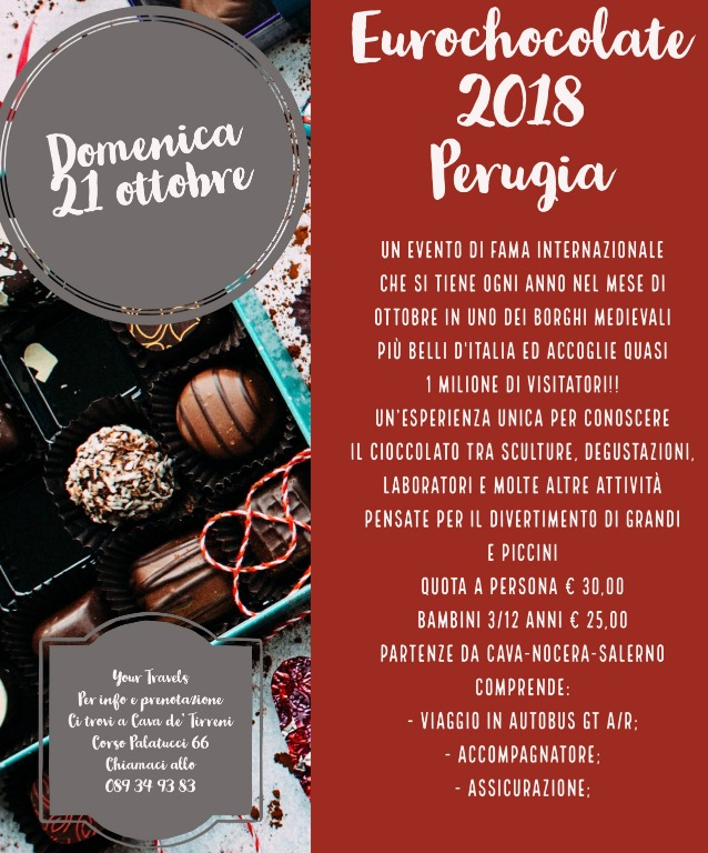 Eurocholate 2018.. con Your Travels