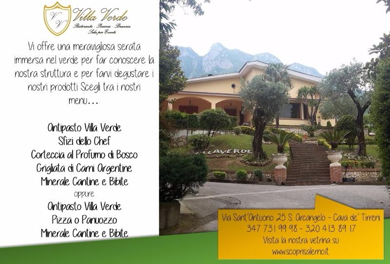 Scopri Villa Verde... scopri la struttura e degusta i fantastici piatti